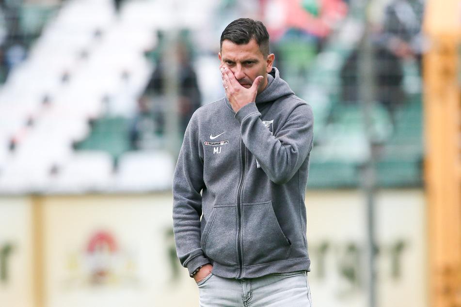 BSG-Trainer Miroslav Jagatic (45) muss sich vom Gegner BFC Dynamo einige Vorwürfe gefallen lassen – und das, obwohl er rassistisch beleidigt worden ist. (Archivbild)