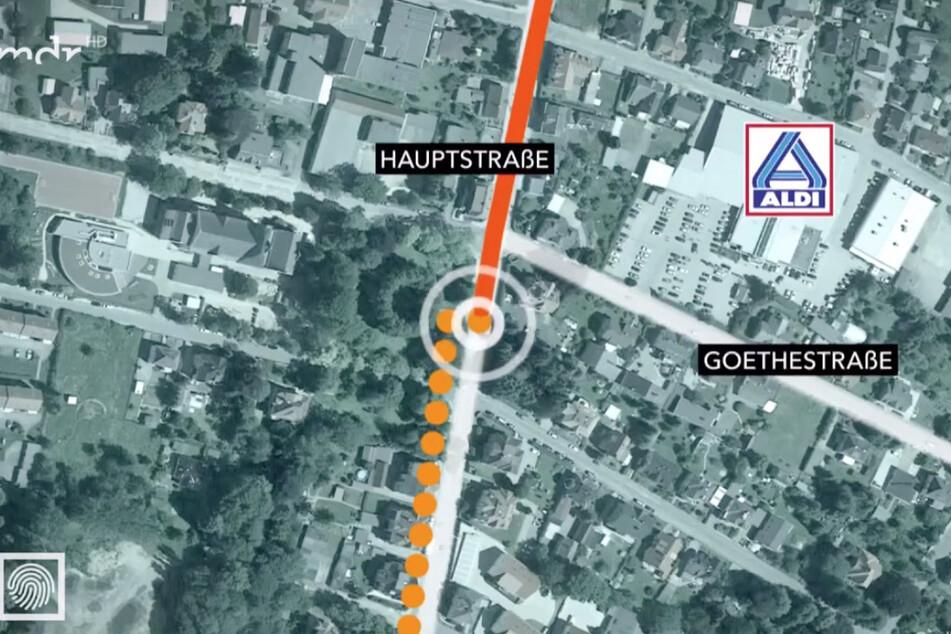 Die MDR-Grafik zeigt, wo sich der Unfall in Neugersdorf ereignet hat.