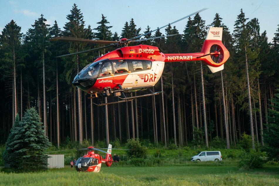 Mehrere Hubschrauber waren im Einsatz.