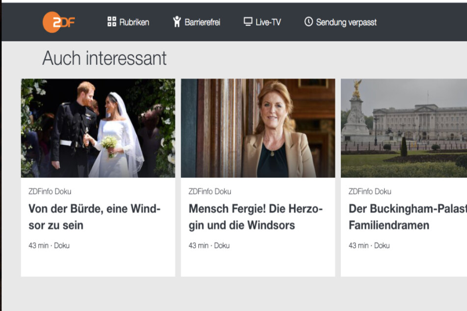 Das ZDF springt offenbar auf DAS royale Thema dieser Tage auf und hat unzählige Dokus in der Mediathek hervorgehoben.