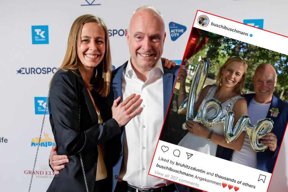 Buschmann hat sich getraut! Sportmorderator heiratet endlich seine Lisa