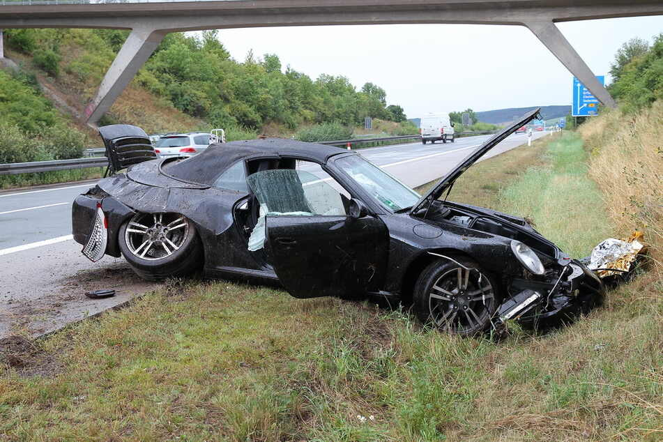 Heftiger Unfall Auf Der A38 Porsche Verungluckt Tag24