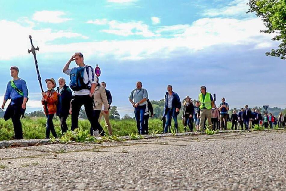 Stolze 75 Kilometer in zwei Tagen absolvierten die Bittgänger am Pfingstwochenende.