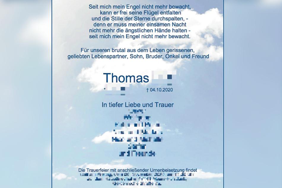 Die Angehörigen in Nordrhein-Westfalen trauern um den ermordeten Thomas L. (†55).
