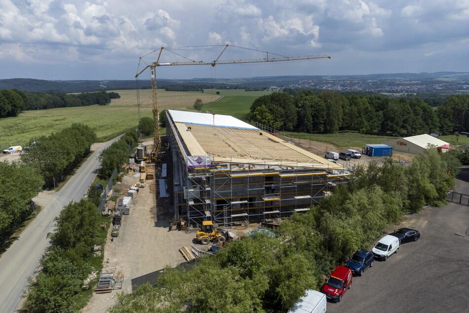 Das neun Millionen Euro teure Bauprojekt feierte am Donnerstag Richtfest.