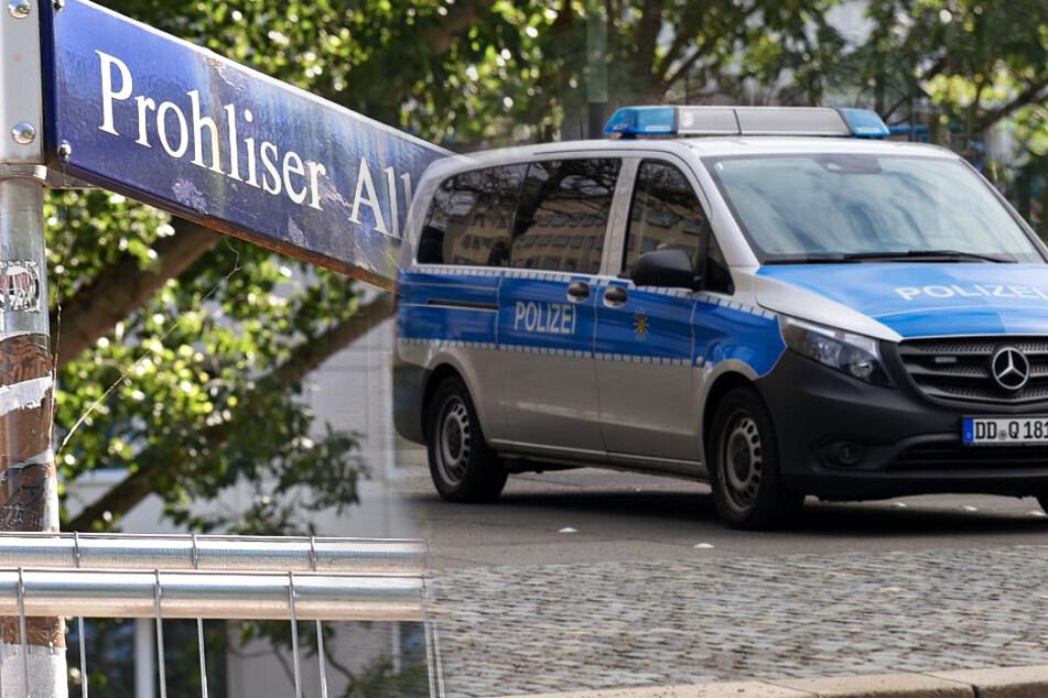 Die Tat geschah in Dresden Prohlis. (Bildmontage)
