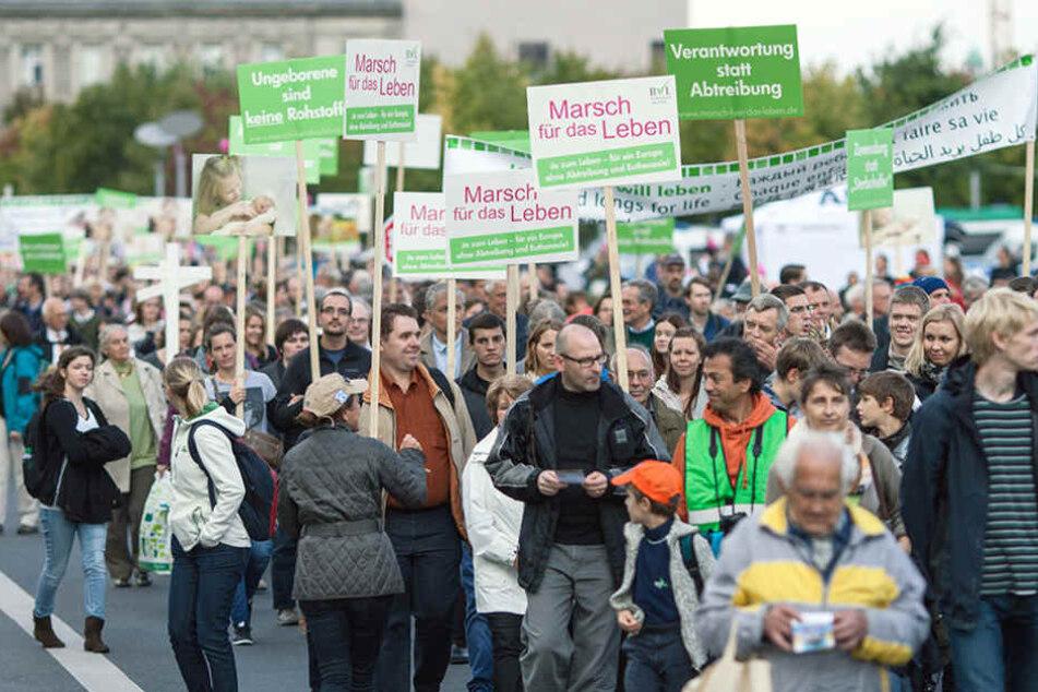 Abtreibungsgegner wollen in Annaberg marschieren