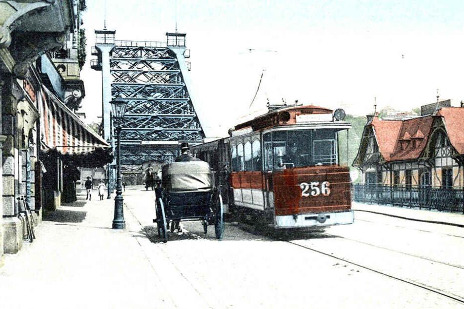 Wer das Blaue Wunder passieren wollte, musste um 1910 wurde noch ein Brückengeld zahlen.