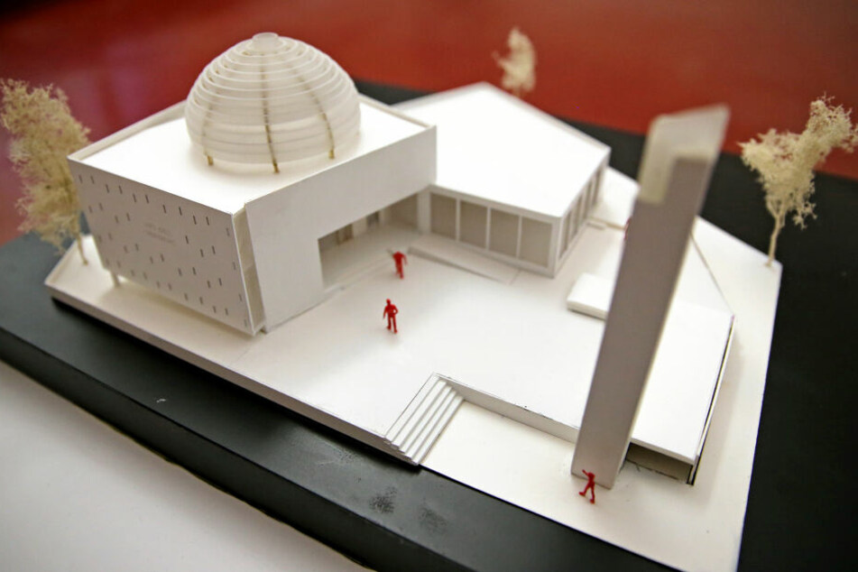 Der Entwurf für den Moschee-Neubau in Leipzig.
