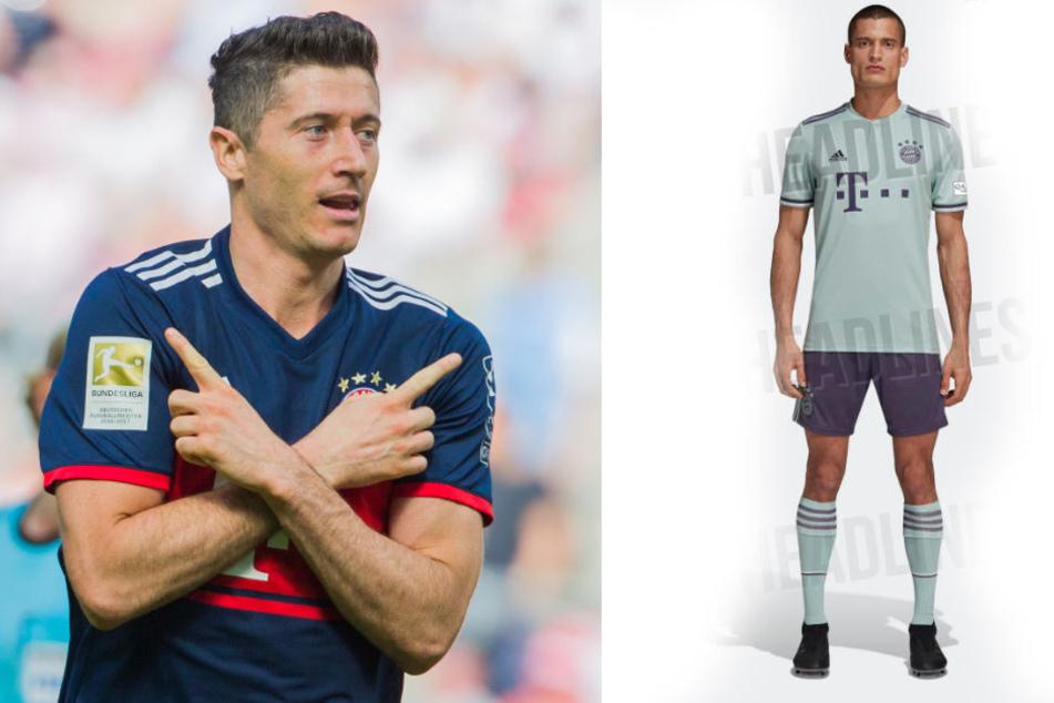 Auch er wird kommende Saison wohl das neue Auswärtstrikot der Bayern tragen: Robert Lewandowski.