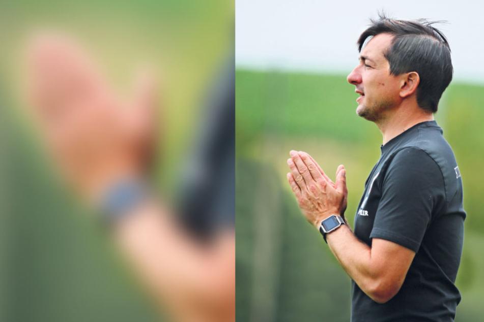 Hilft nur noch beten? FCE-Coach Daniel Meyer weiß, dass Köln ein harter Gegner wird.