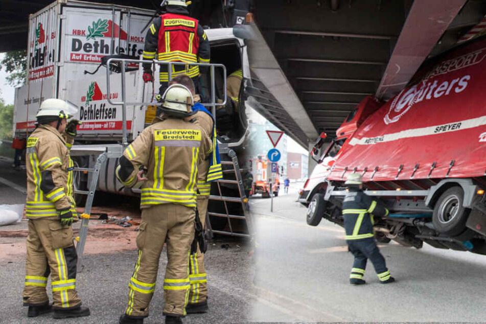 So häufig bleiben Lastwagen an Brücken in Hamburg hängen