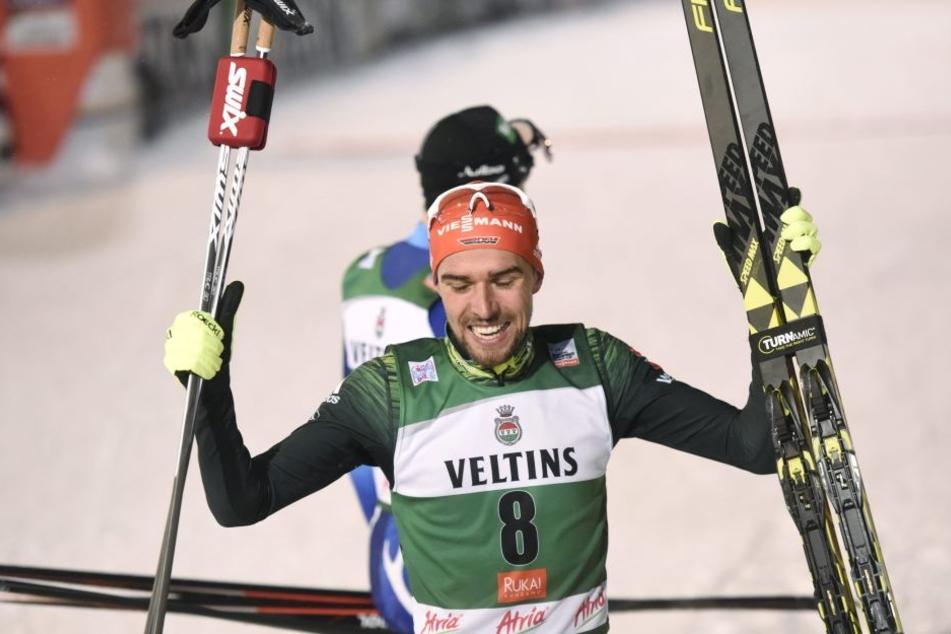 Vier WM-Titel in vier Wettbewerben bei der WM in Lahti: Kombinierer Johannes Rydzek.