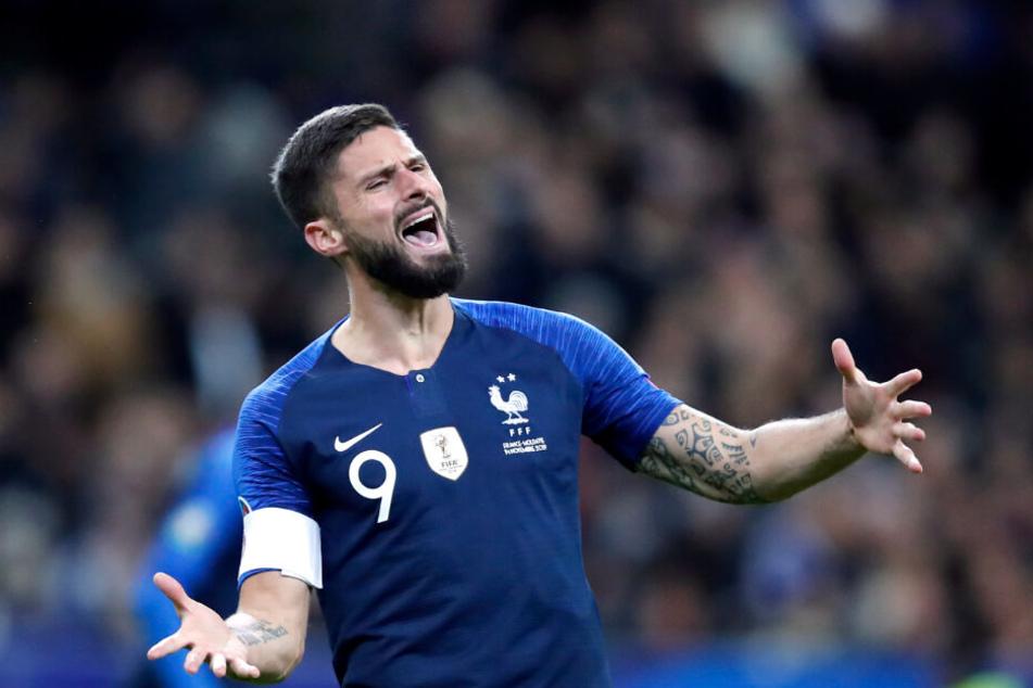 Ebenfalls unzufrieden mit seiner derzeitigen Situation: Olivier Giroud. Ist er einer für den BVB?