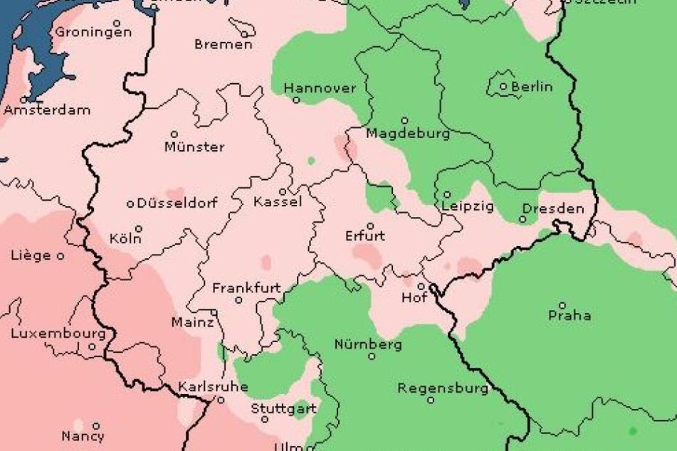 Vor allem im Westen und im Süddeutschen Raum muss mit Sturm gerechnet werden.