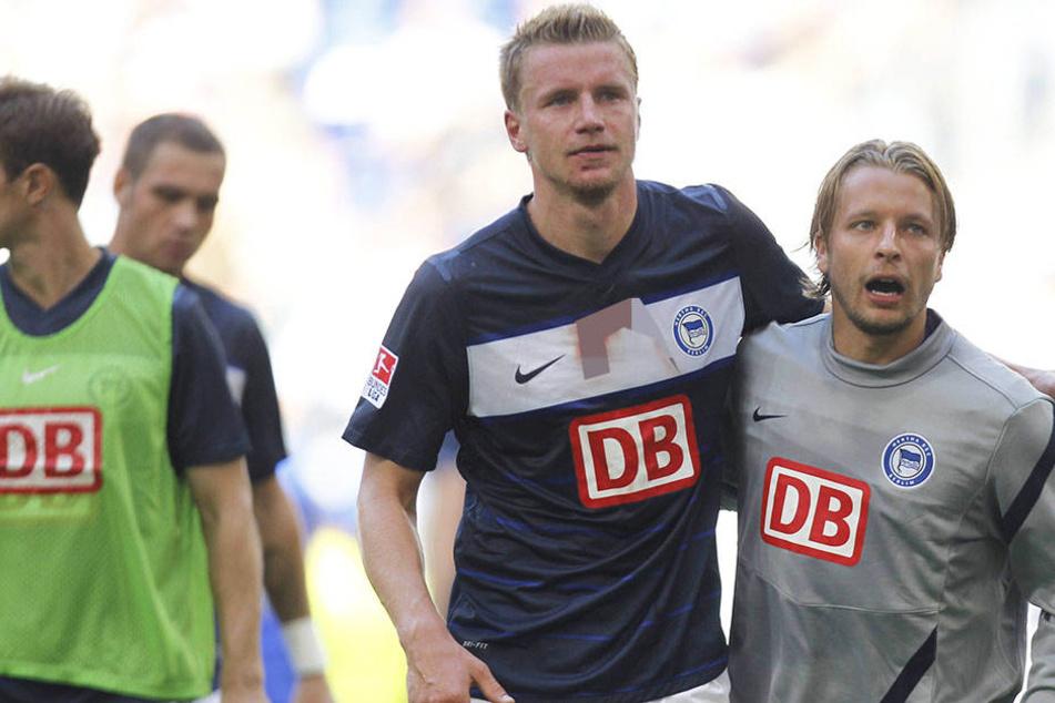 Maik Franz (l.) und Patrick Ebert spielten gemeinsam für die Berliner Hertha. Auch neben dem Platz machten sie zusammen die Hauptstadt unsicher.