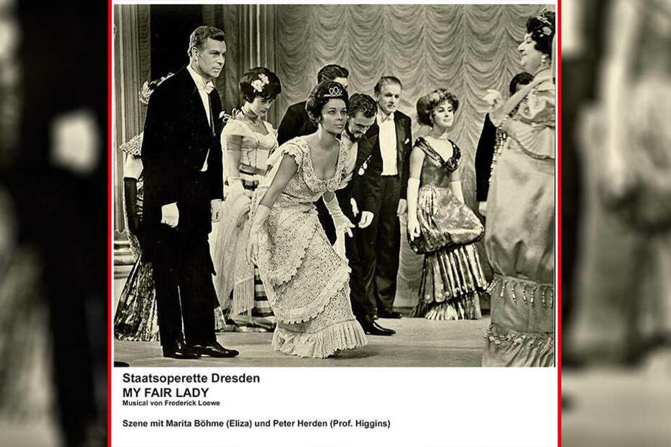 "Traumpaar an der Staatsoperette: Marita Böhme (Mitte) und Peter Herden (l.) in ""My Fair Lady""."