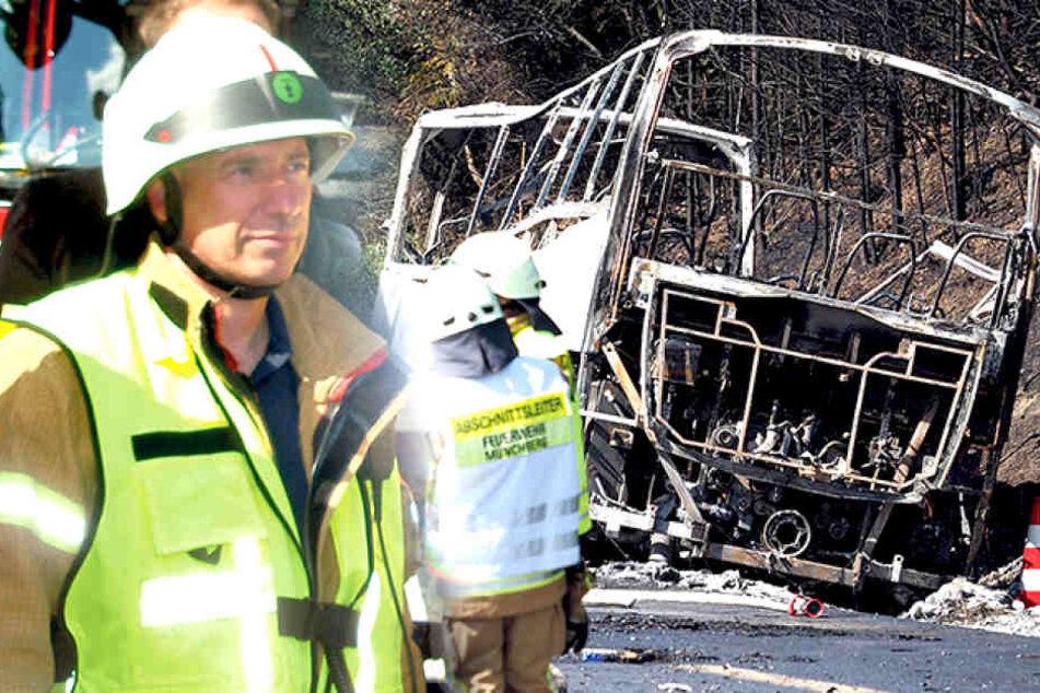 """Jetzt sprechen die Retter: """"Im Bus habe ich verbrannte Leichen gesehen!"""""""