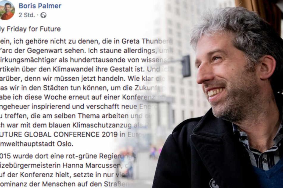 """""""Kronzeuge der AfD"""", """"Rassist"""": Schreibt Palmer auf Facebook nicht mehr zu Flüchtlingen?"""
