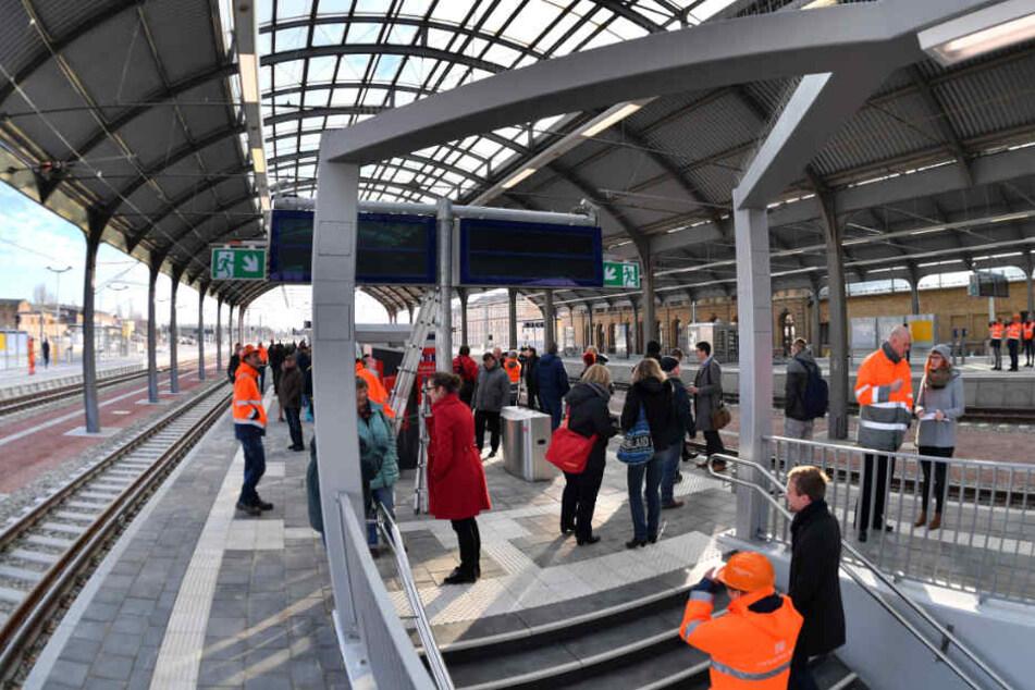 Sperrungen wegen Bauarbeiten am Hauptbahnhof Halle (Saale)