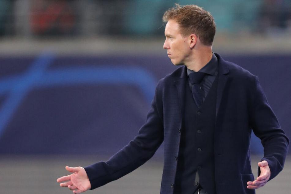 """""""Ich kann noch keine Prognose abgeben"""", äußerte sich RB-Coach Julian Nagelsmann (32) zur Personalfrage."""