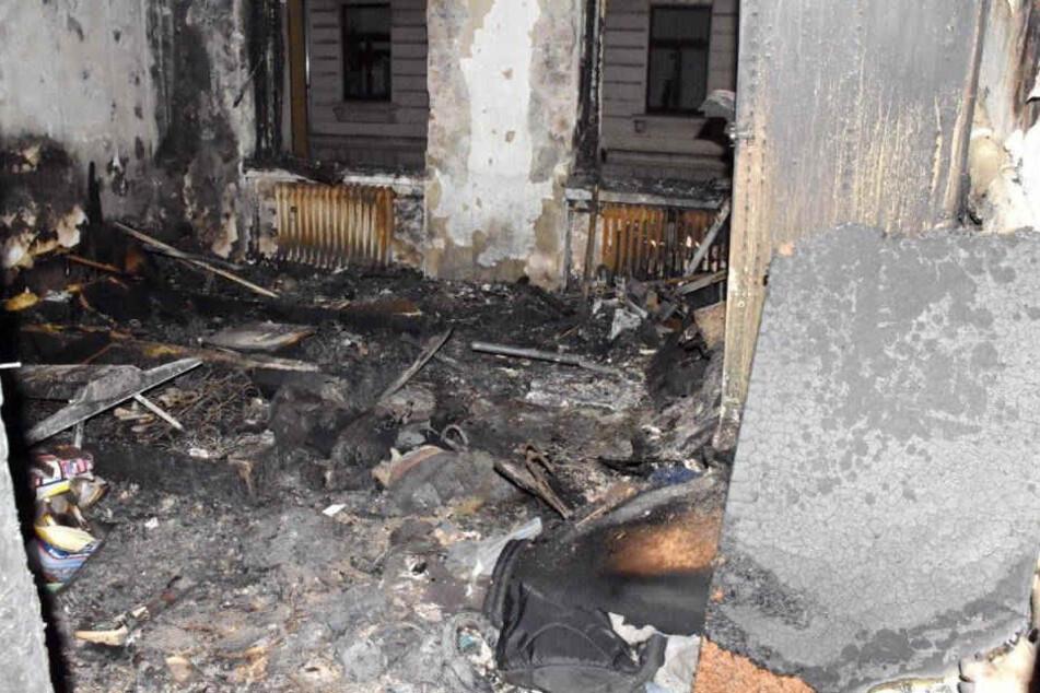 Die Brandwohnung blieb zunächst unbewohnbar.