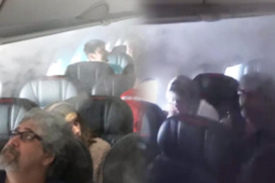 Ganze Kabine voller Rauch! Passagiere drei Stunden lang in Flieger festgehalten