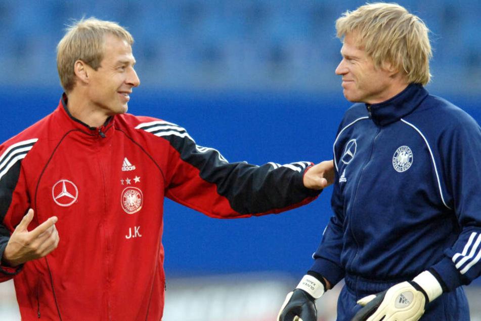 Jürgen Klinsmann (l.) und Oliver Kahn verbindet eine gemeinsame Vergangenheit.