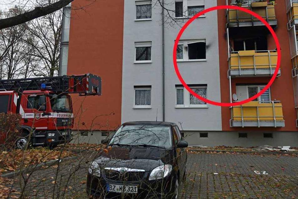 Explosion und Brand verwüsten Wohnung in Mehrfamilien-Haus