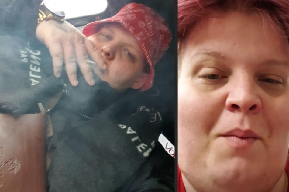 Links ist der YouTuber am Rauchen, rechts sitzt er auf dem Klo.