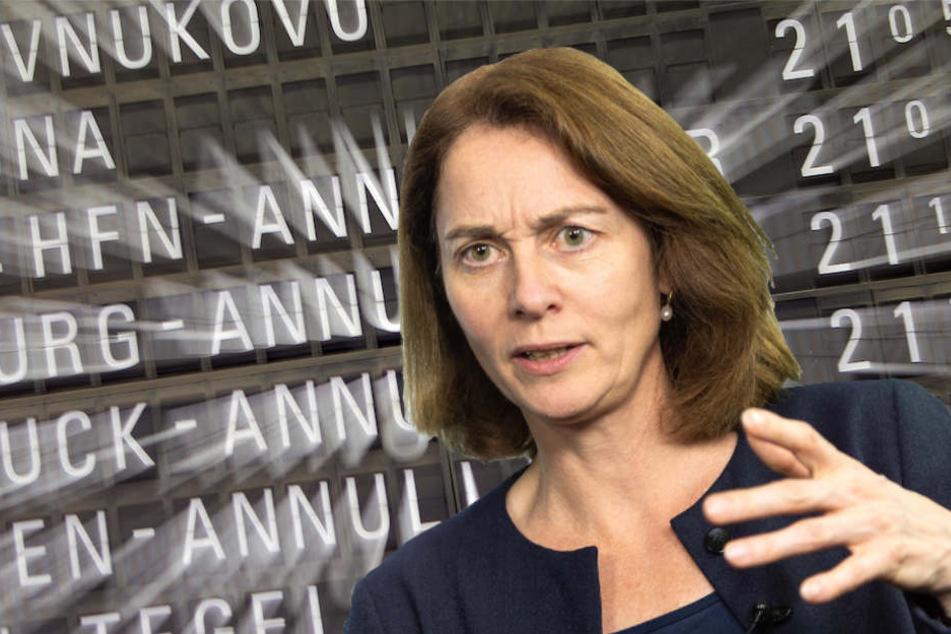 Verbraucherschutzministerin Katarina Barley (49, SPD) erwartet von Airlines unaufgeforderte Entschädigungen. (Bildmontage)