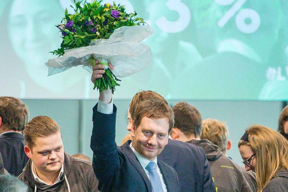 Ministerpräsident Michael Kretschmer (43) führt seine CDU in den Landtagswahlkampf.