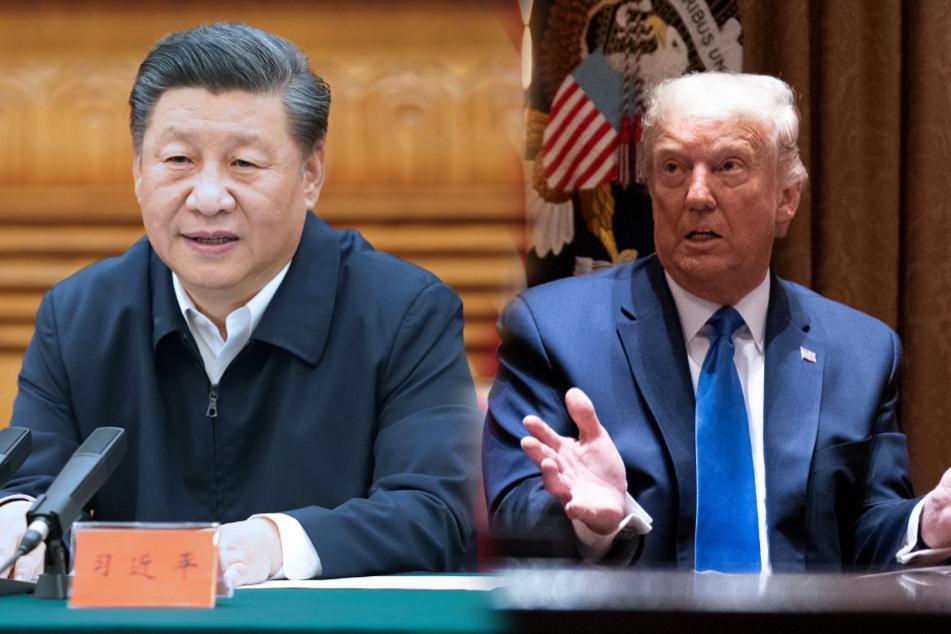 Werden wohl keine Freunde mehr: Xi Jinping (67), Generalsekretär der Kommunistischen Partei Chinas und US-Präsiden Donald Trump (74).