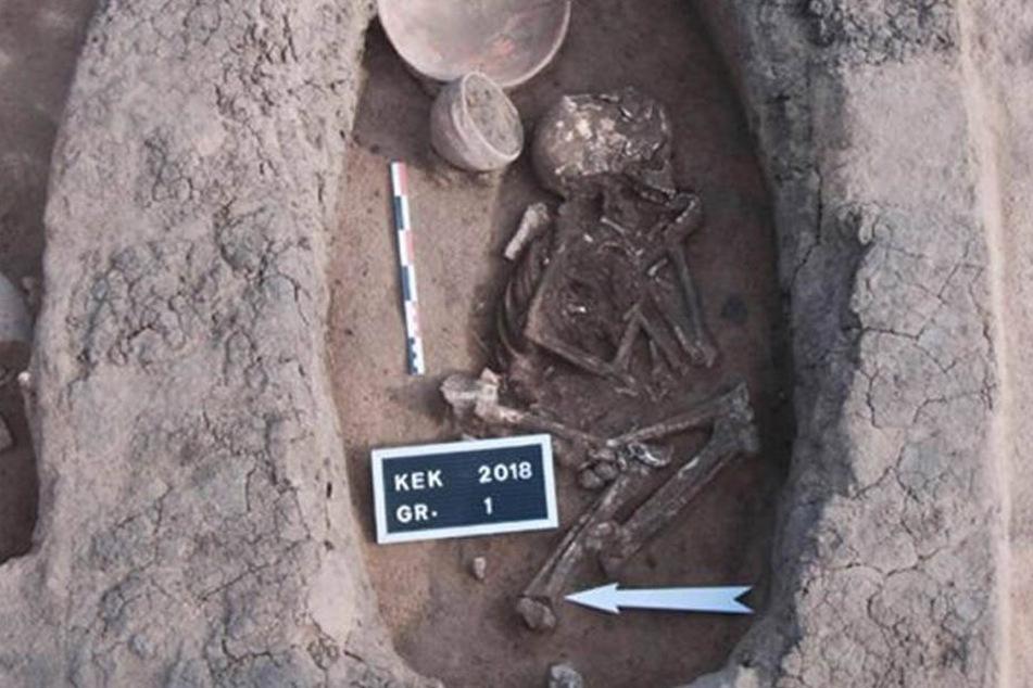 Die Skelette wurde allesamt in hockender Position gefunden.