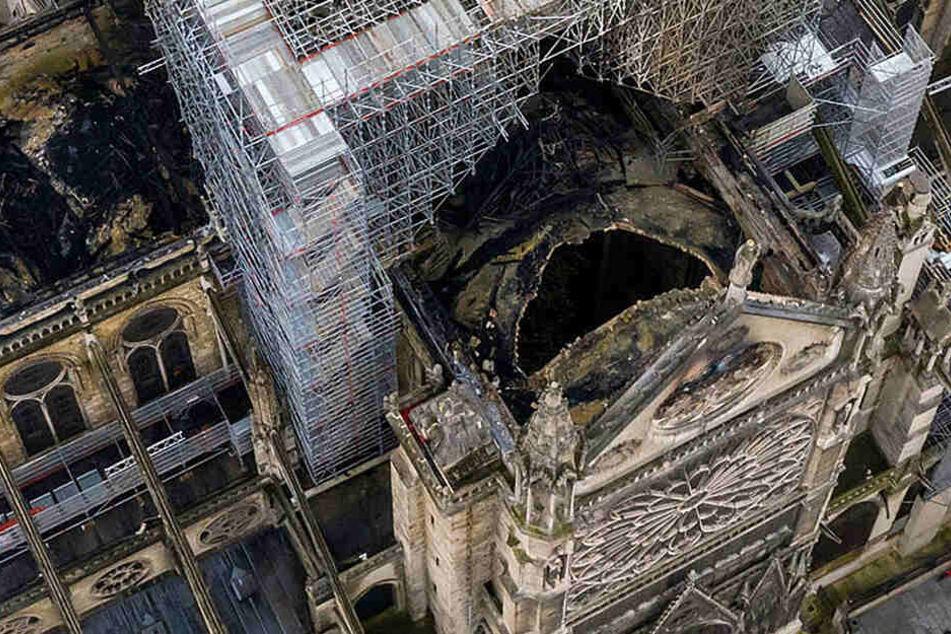 Notre-Dame nach dem Brand.