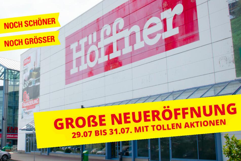 Toko furnitur di Erfurt merayakan pembukaan hingga hari Sabtu.