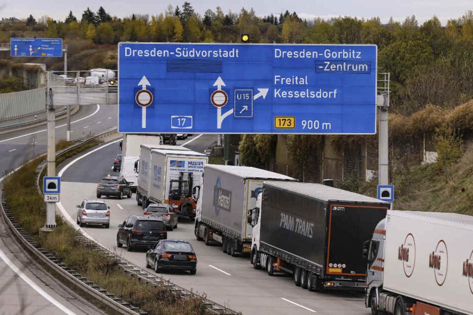 Dresden: Autofahrer Aufgepasst! Heute und morgen Sperrungen auf der A17