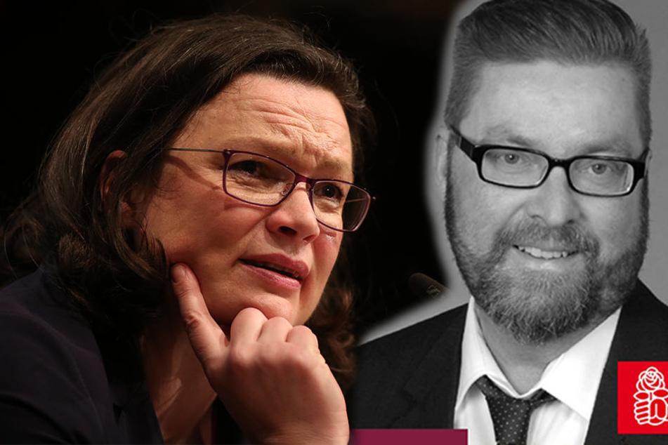 Macht Andrea Nahles (47) Konkurrenz: So wirbt Rolf Allerdissen (51) für sich auf Facebook für den SPD-Parteivorsitz.