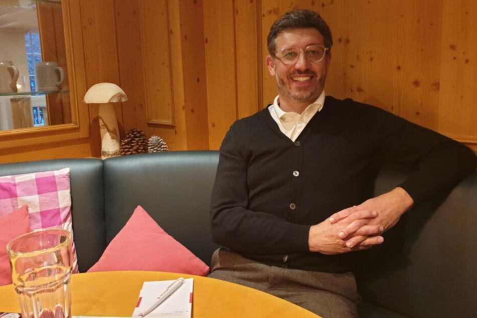 Claus Vogt beim TAG24 Interview in Stuttgart Bad-Cannstatt.