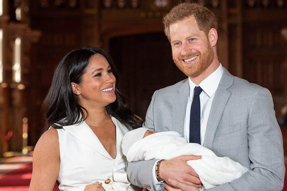 Babyfreuden bei Harry und Meghan nach der Geburt von Baby Archie.
