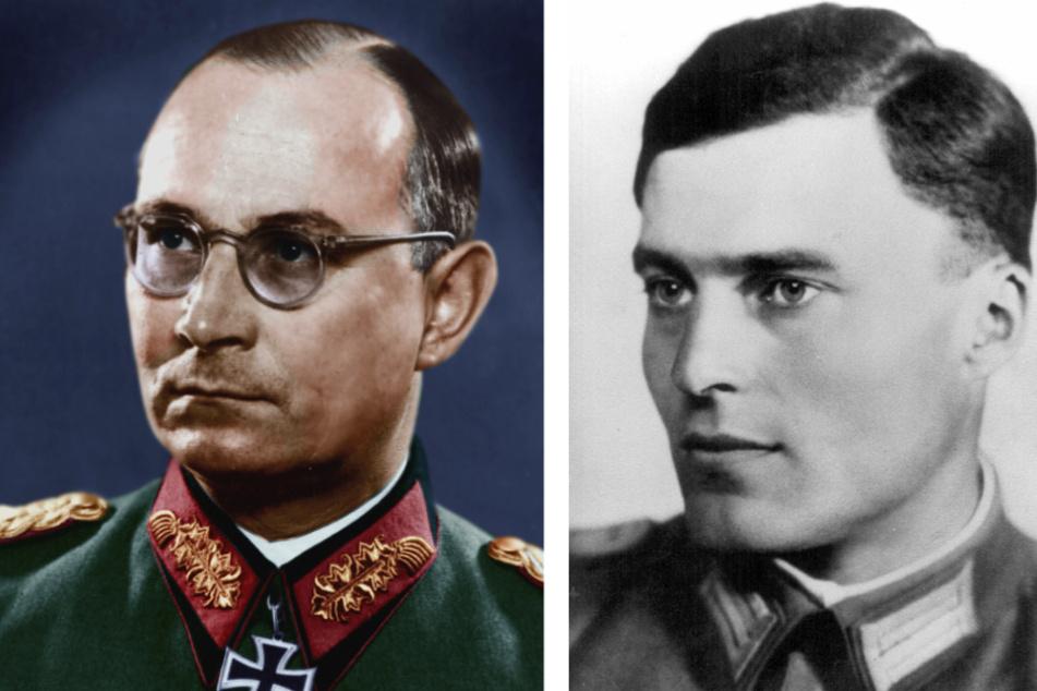 General Friedrich Olbricht (1888 - 1944, l.) und Oberst Claus Schenk Graf von Stauffenberg (1907 - 1944).