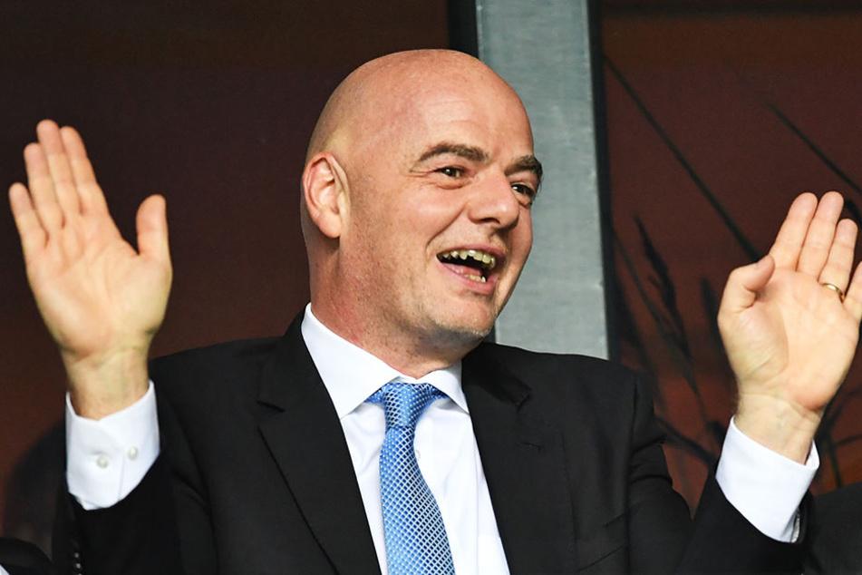 Soll bereits im März 2018 versucht haben, den 25-Milliarden-Dollar-Deal durchzusetzen: FIFA-Präsident Gianni Infantino.