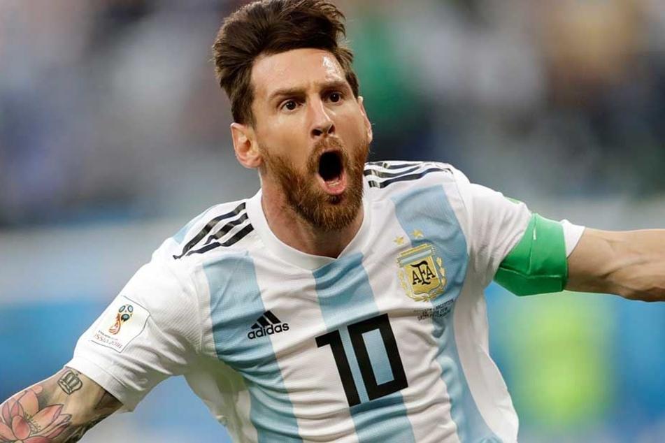 Drama-Spiel: Tor kurz vor Schluss rettet Messi das Achtelfinale