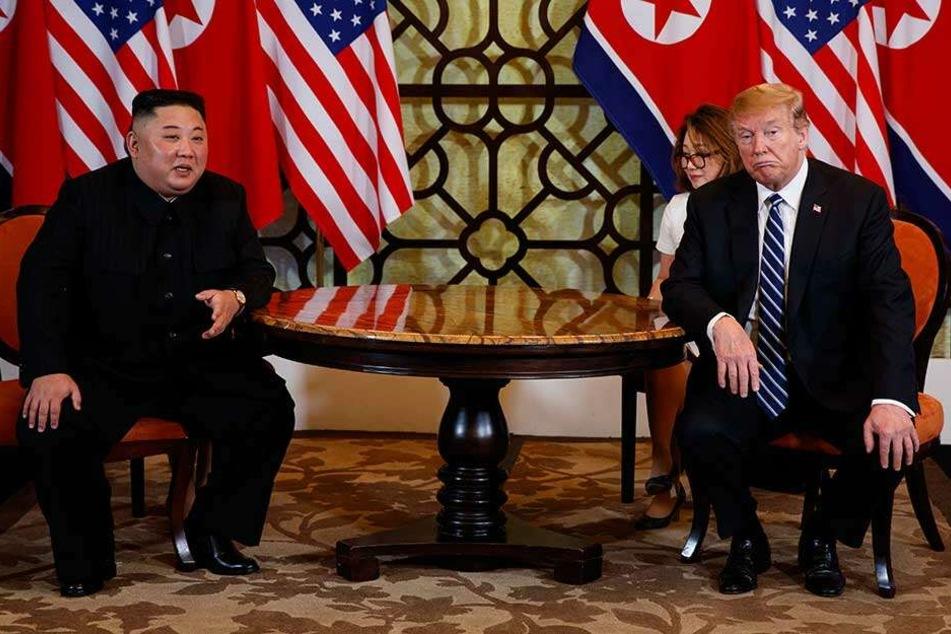 Trotz des Scheiterns betonte Donald Trump die gute Atmosphäre