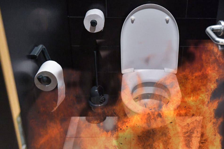 Die Toiletten der HTWK sind während der Prüfungszeit stark gefährdet.