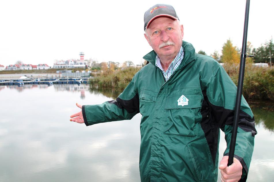 Der gebürtige Geierswalder darf in seinem Heimatsee nicht angeln.