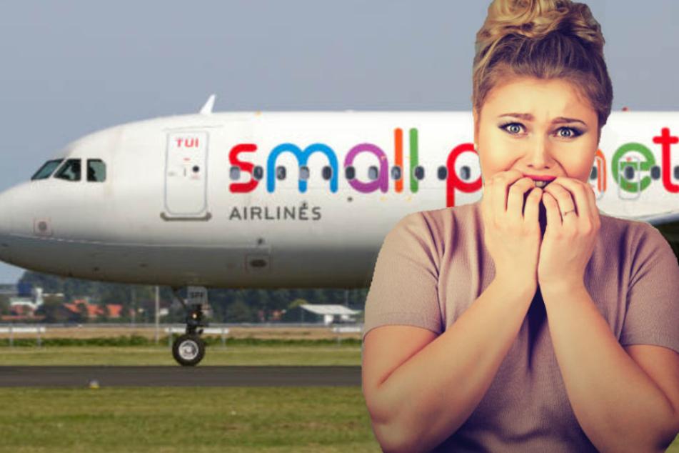 Panisch verließen die Passagiere das Flugzeug. (Symbolbild)