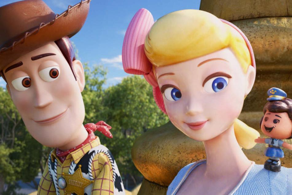 Cowboy Woody (links) mit Porzellinchen (Mitte) und Giggle McDimples.