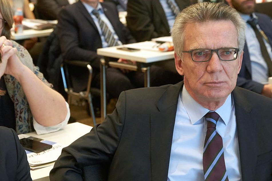 Bundesinnenminister Thomas de Maizière (CDU).