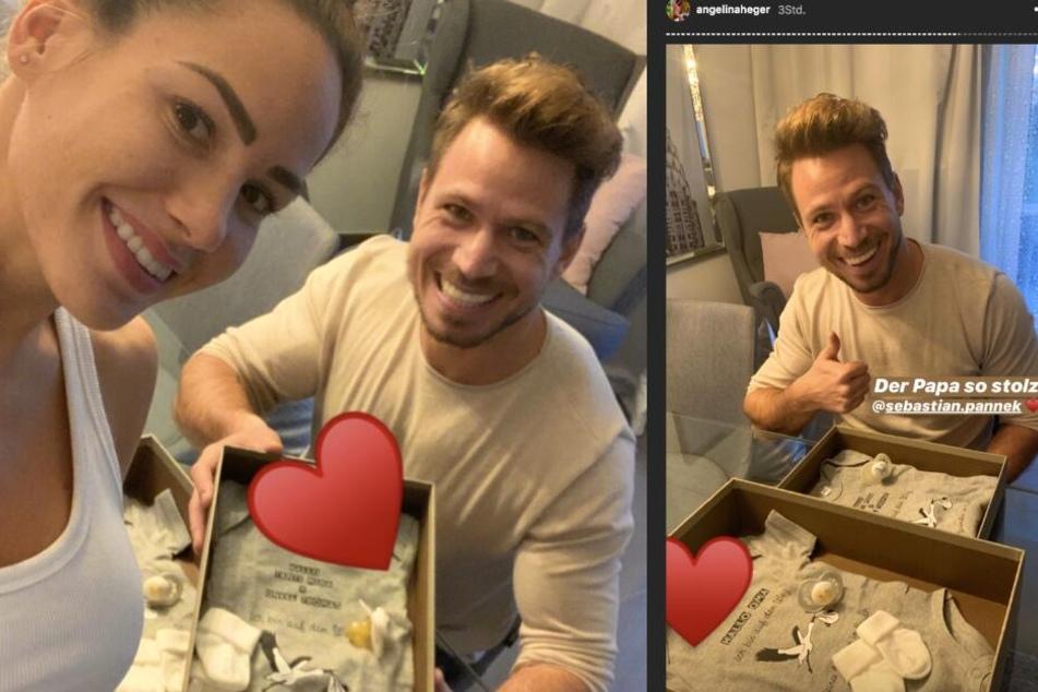 In ihren Instagram-Storys lässt das Paar seine Fans an der Schwangerschaft teilhaben.